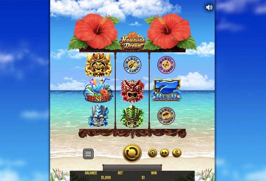 Hawaiian Dreamのプレイ画面